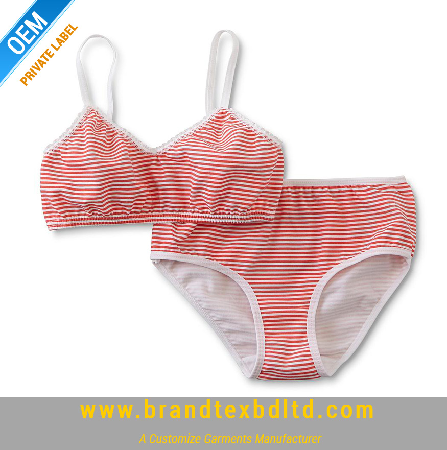 fe3817abeb2a Girls Bra & Bikini Panties - Striped - BRANDTEX